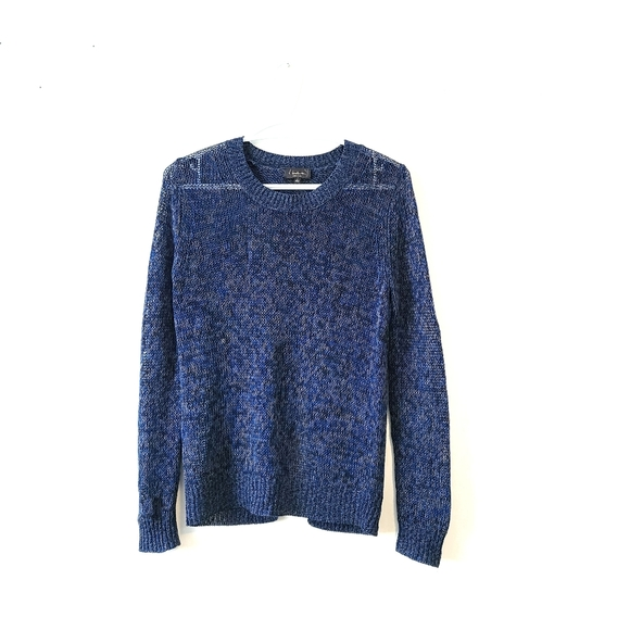ARITZIA T. BABATON Knitted Open Back Blue Sweater